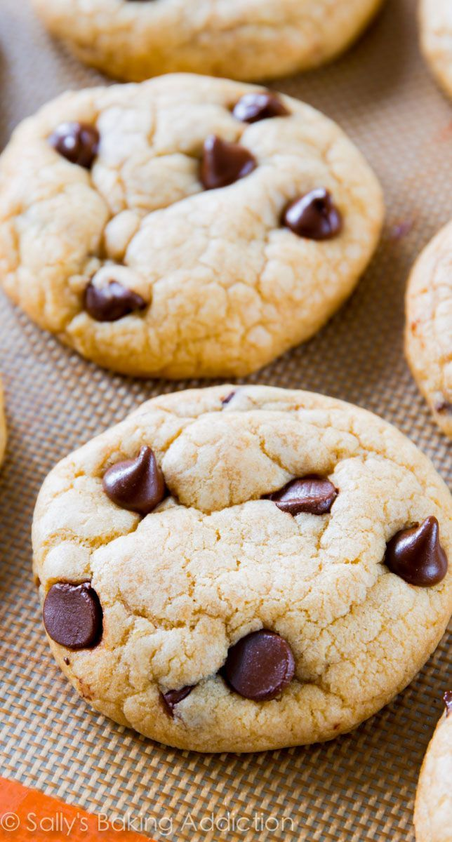These are the best chocolate chip cookies. Soft, chewy, thick, and you don't even need a mixer to make them!