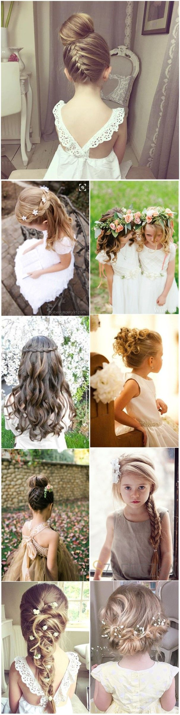 Wedding hairstyles for kids girls - 22 Adorable Flower Girl Hairstyles To Get Inspired Flower Girl Hairstyleskids Wedding