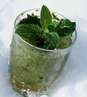 Alkoholfri mojito oppskrift med næringsinnhold.