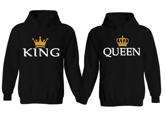 Couple Hoodie King & Queen Matching His and Her by CheaperChoice