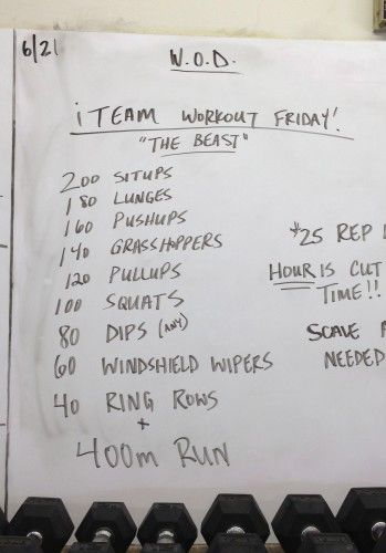 """CrossFit WOD """"The Beast"""" - Lip Gloss & Lunges"""