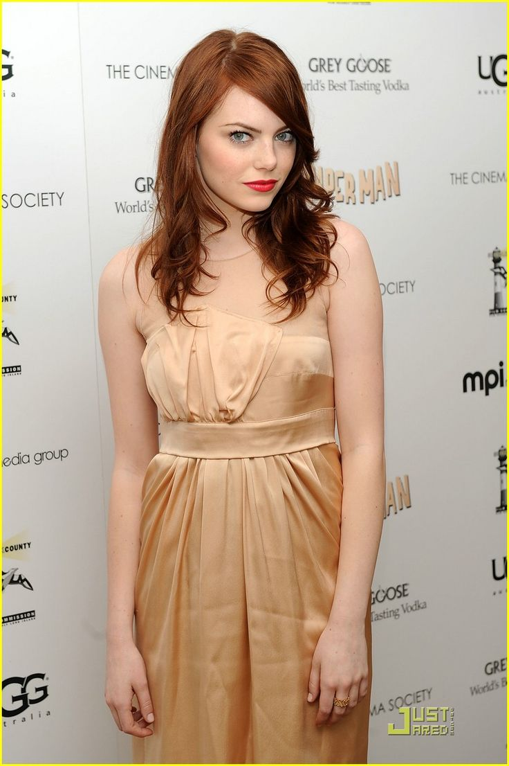 emma stone. i'm in love with her hair!