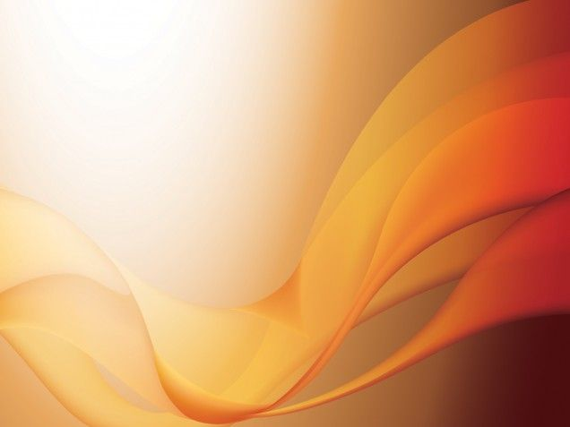 3d Light Effects Ppt Background: This Orange Waves PPT Template Is A Nice Abstract Design