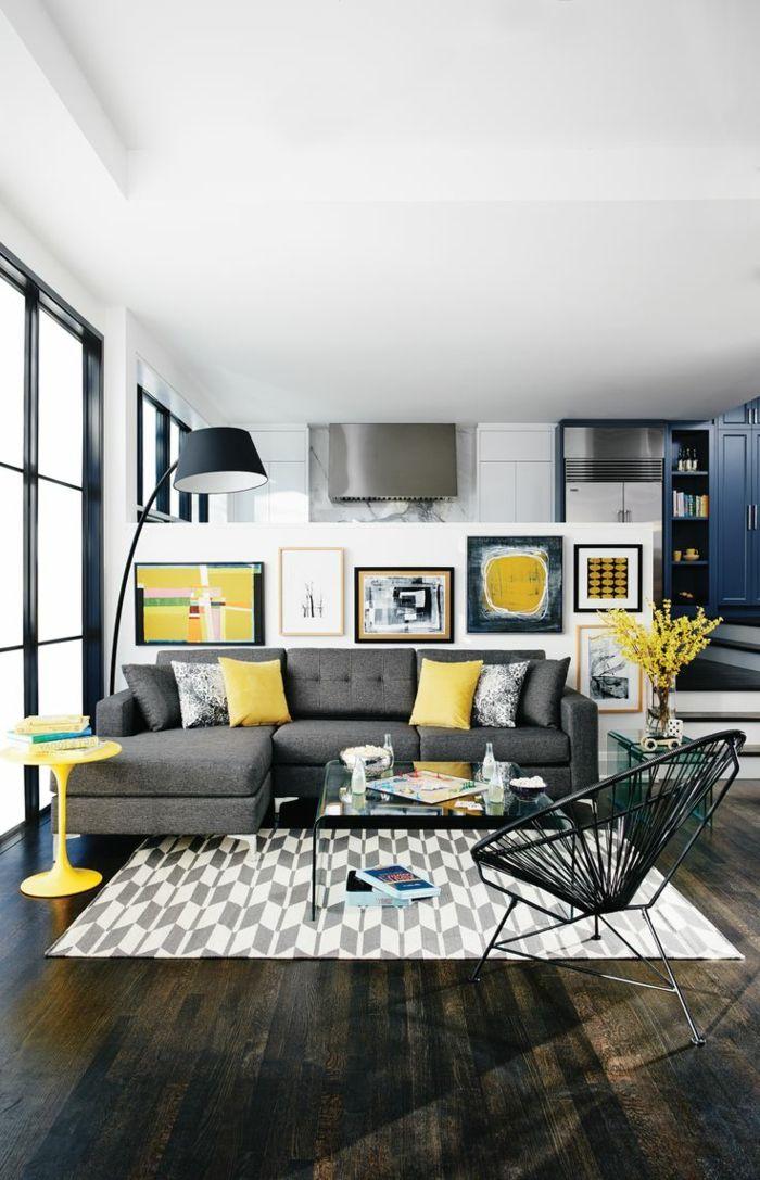 Die besten 25+ Dunkles sofa Ideen auf Pinterest Dunkelgraues - wohnzimmer ideen dunkle mobel