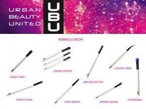 UBU – Urban Beauty United presenta la gamma di pennelli per il trucco occhi