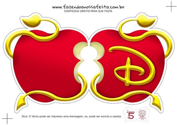 Invitaciones de Blancanieves Originales - Modelos Invitaciones Princesas Disney - Invitaciones de Descendientes Disney