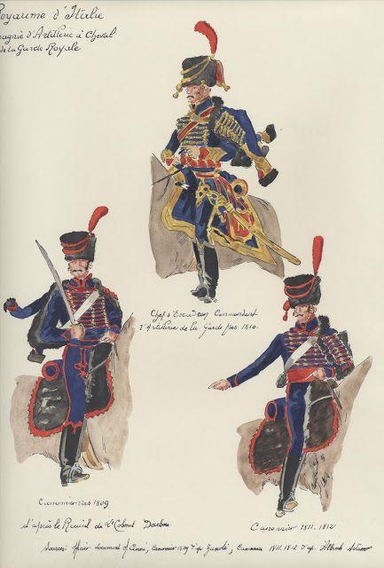 Comandante di squadrone e cannoniere dell'artiglieria a cavallo
