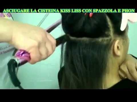 Lisciatura capelli ricci. Cisteina Kiss Liss. senza formaldeide. Italiano