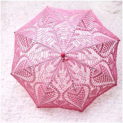 Crochet and Crafts كروشيه واشغال يدوية: Pineapple umbrella مظلة كروشيه بغرزة الاناناسة