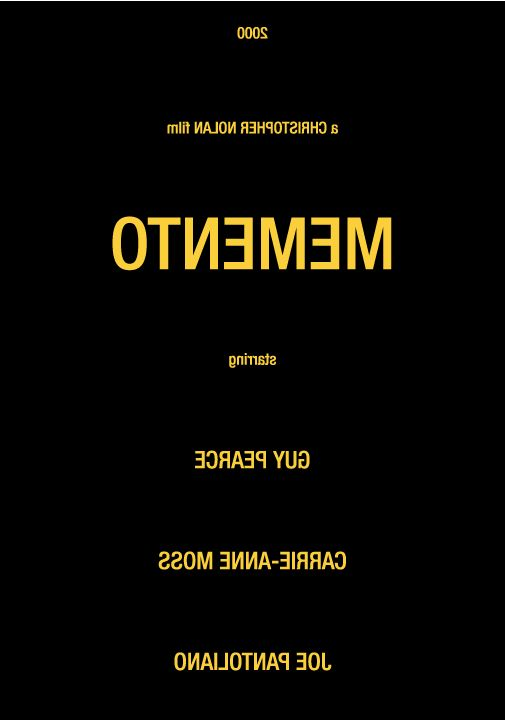 Memento (2000) ~ Minimal Movie Poster by Gidi Vigo #amusementphile