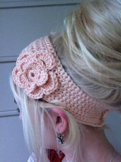 Crochet Flower Headband/ Earwarmer  Pick your by MakeItMineCrochet