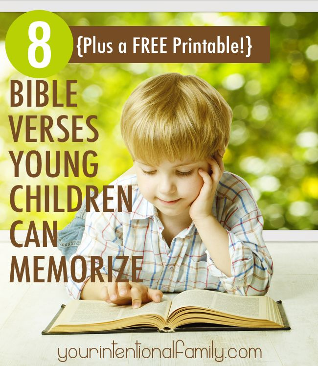 Free Online Bible Quotes: 8 Bible Verses Small Children Can Memorize {Plus A FREE ...