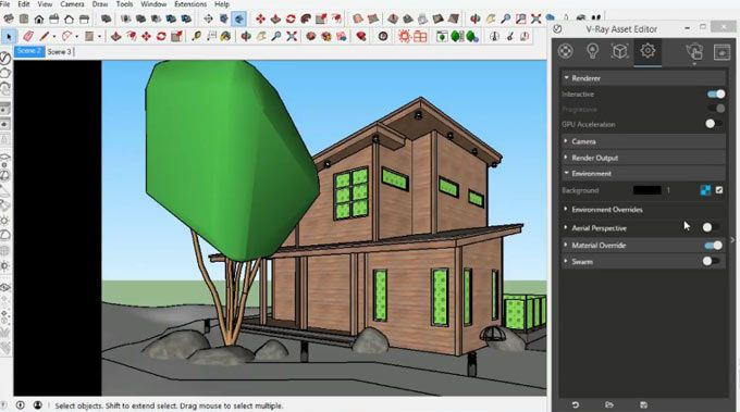 In This Tutorial You Will Learn How To Use Vray 3 4 For Sketchup