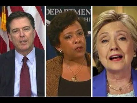 """FINALLY!! Hillary, Comey and Loretta Lynch """"Might be"""" Going to Jail after All - YouTube"""