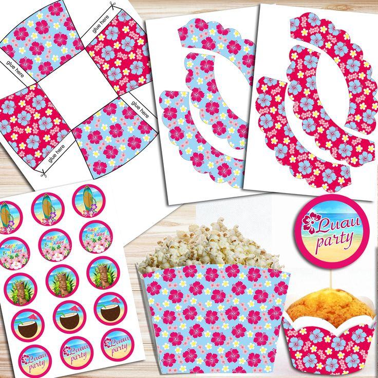 Luau Birthday Party, Luau Birthday Decorations, Luau Birthday Banner, Luau Birthday Invitation, Luau Party Supplies, Luau Party Decorations