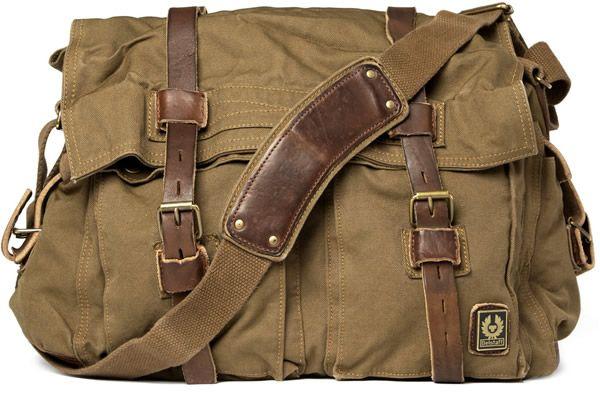 Belstaff Cotton Canvas Messenger Bag