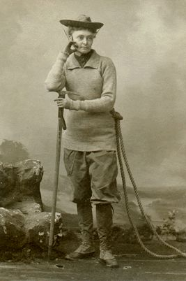 Annie Smith Peck- Mountaineer. In 1894 she became third woman to scale the Matterhorn, and the first to do so in pants.