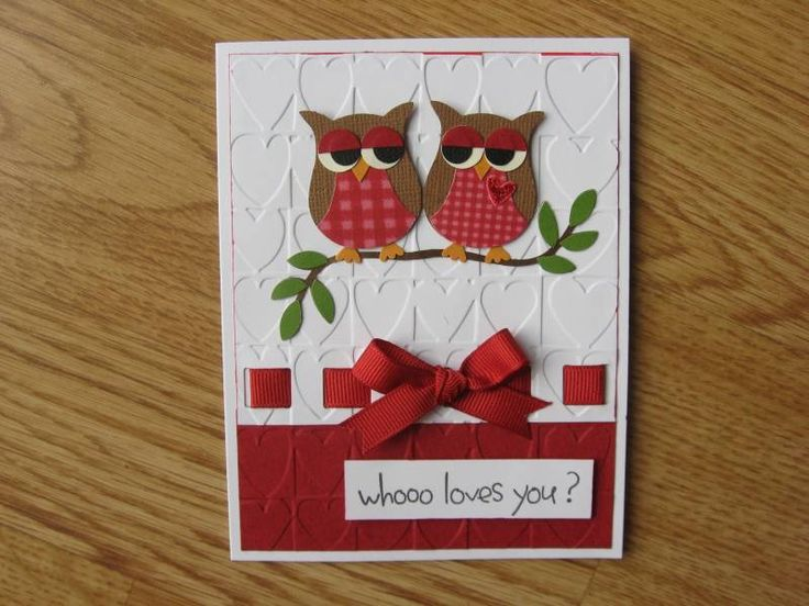 Owl Valentine by coppertop - Cards and Paper Crafts at Splitcoaststampers