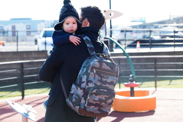 New Dad Gift Idea: Camo diaper bag