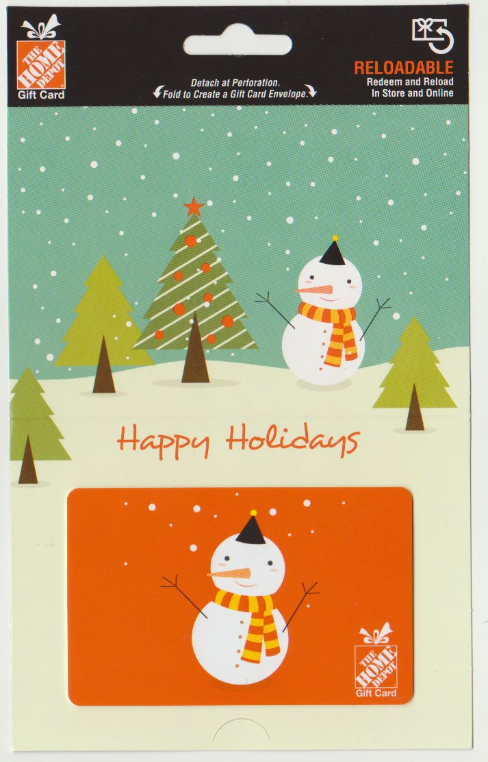 Pin by Mako chan on Home Depot | Gift card envelope, Home ... Happy Gift Card Home Depot