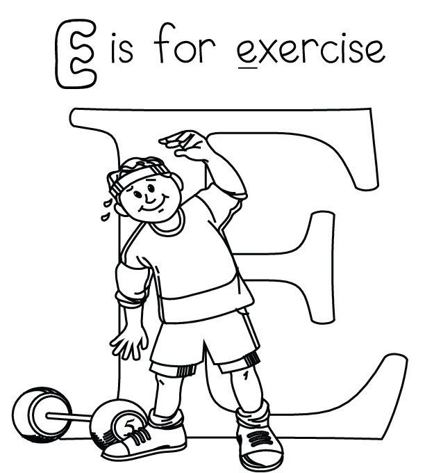 Fitness Coloring Book Coloring Coloring Pages