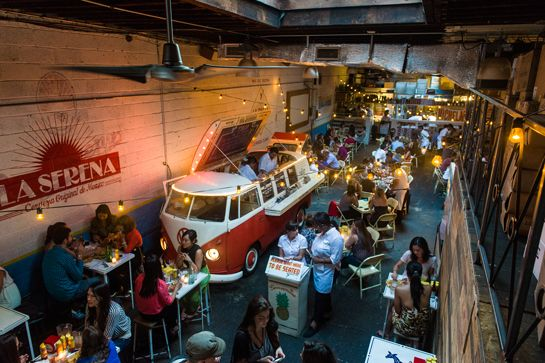 12 Restaurants In Soho We Can't Live Without #refinery29 Tacombi Next time you find yourself arguing with co-workers about where to have happy hour, insist they join you at the ridiculously fun Tacombi. It's decorated to look like a shack on a Mexican beach, and a converted VW bus serving gluten-free tacos is parked right in the center of the space. The relaxed vibe is perfect to sip cerveza after cerveza. You can practically hear the ...