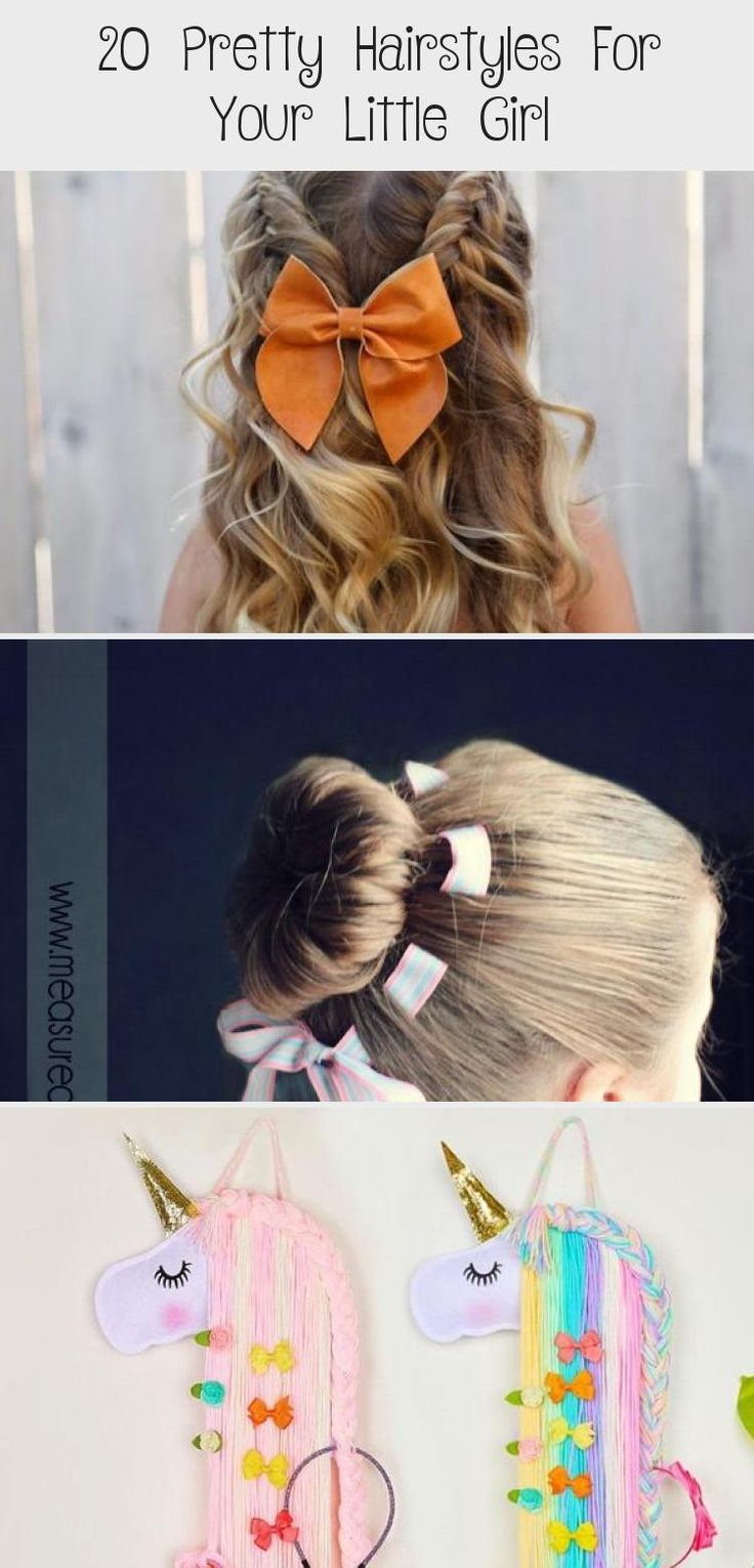 20 Pretty Hairstyles for your Little Girl Turn your little lady into a princess using one of these 20 pretty hairstyles made for little girls. Pick a favorite and try it today! #babyhairstylesBob #babyhairstylesHalfUp #babyhairstylesBlack #babyhairstylesWithHeadband #Hispanicbabyhairstyles