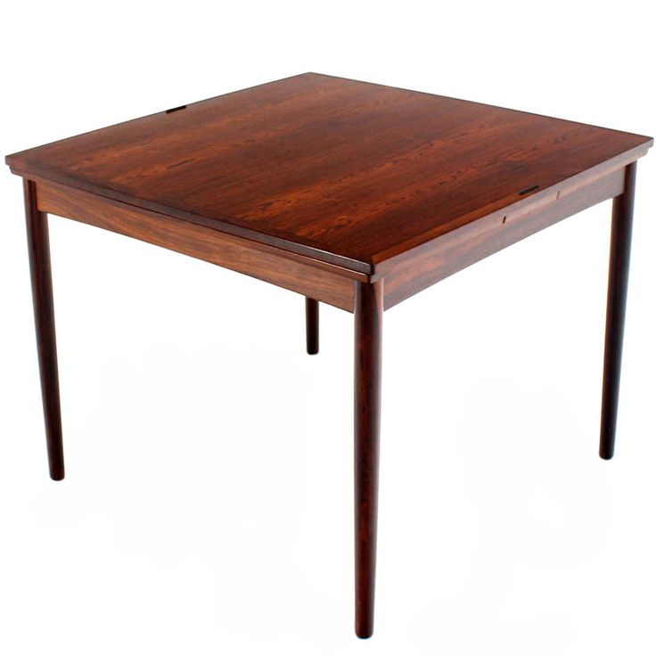 Superior Danish Mid Century Modern Rosewood Flip Top Extendable Game Table