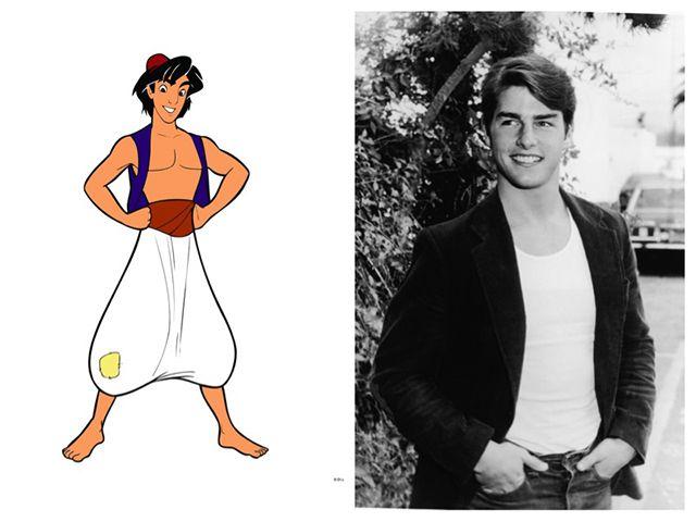 15.) Aladdin was based on Tom Cruise.