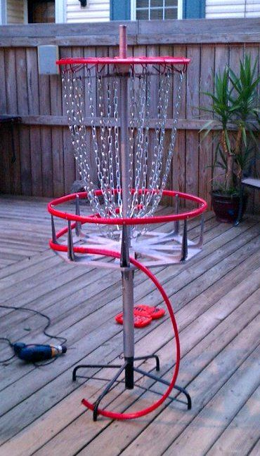DIY: From Christmas Tree to Disc Golf Basket