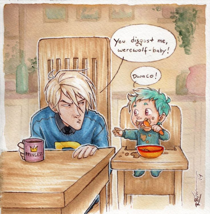 Draco meets Teddy by CaptBexx on deviantART. I love his mug!