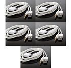 5X 2IN1 USB 3.5MM AUX AUDIO SYNC CHARGER WHITE CABLE IPHONE 4S 4 IPOD TOUCH IPAD