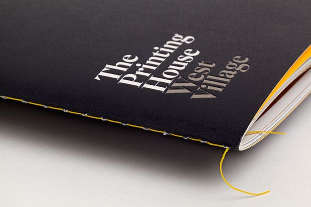 The Printing House print with stitch detail designed by Pentagram.