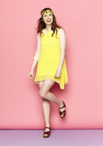 Jackie Yellow Babydoll Dress $30