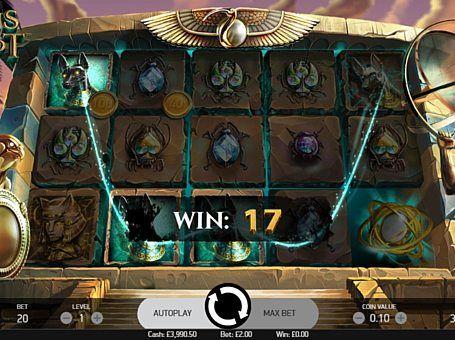 Ігровий автомат Coins of Egypt з виведенням грошей  Онлайн апарат Coins of Egypt присвячений багатств єгипетських пірамід. Цей автомат від NetEnt отримав 20 ігрових ліній, Wild і фріспіни з особливою функцією, яка спрощує виведення грошей.