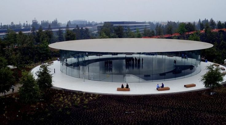 New Apple Park Drone Video Shows Off Steve Jobs Theater Ahead of Next Week's Event - New Apple Park Drone Video Shows Off Steve Jobs Theater Ahead of Next Week's Event macrumors.com