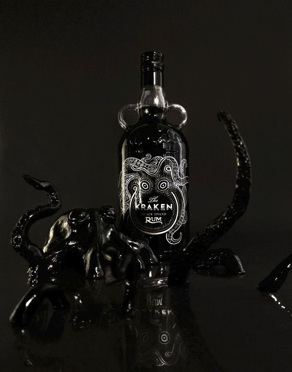 The Kraken Rum Redesign by Cedrik Ferrer, via Behance #greatdesign #greatrum
