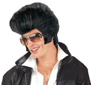 Rock & Roll Pompadour Black Wig – Trendy Halloween
