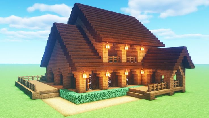 """Minecraft Tutorial: How To Make A Spruce Wood House """"2020 ..."""