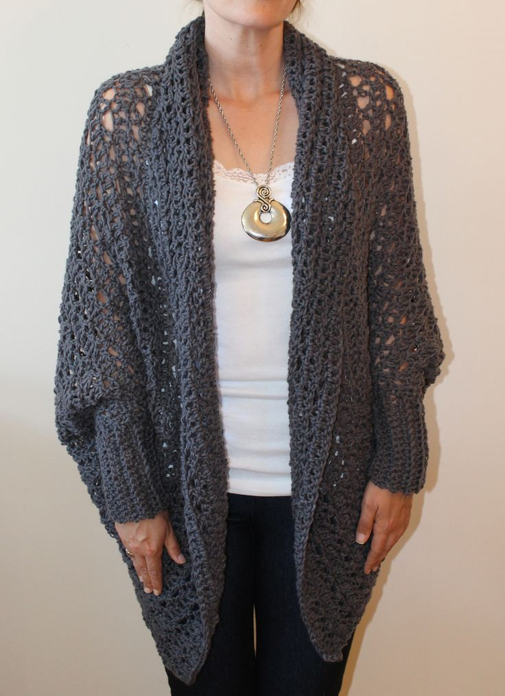 Free Crochet Cocoon Sweater Pattern : 466 best images about Chalecos on Pinterest Vests ...