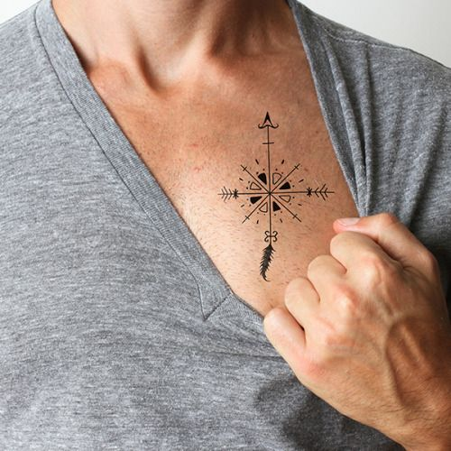 Arrow Compass temporary tattoo. Buy here >>>...