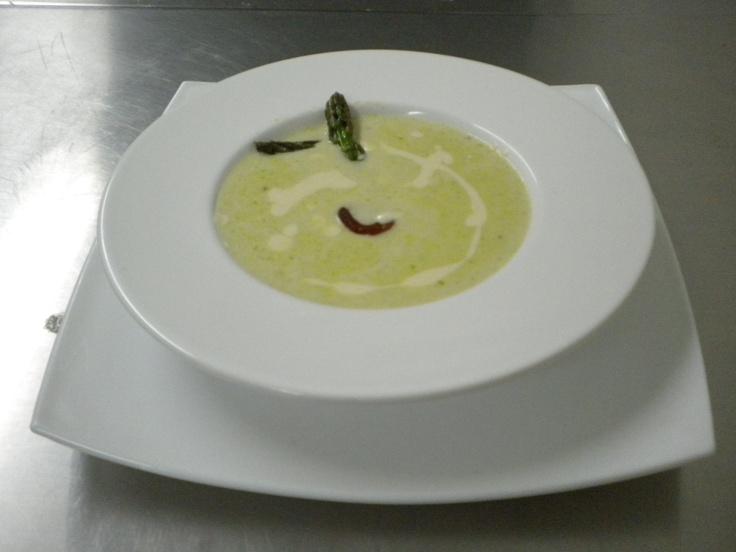 Sopa crema de esparrago