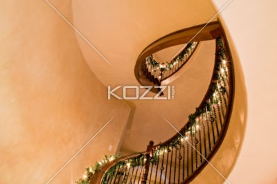 Best Spiral Stair Elegant Golden Staircase In A Hotel 400 x 300