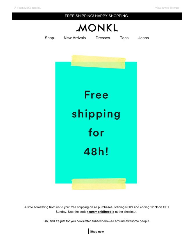 Monki is a major fashion retailer which operates the website skillfulnep.tk of today, we have 2 active Monki promo codes, 3 sales and 5 third-party deals. The Dealspotr community last updated this page on December 4, On average, we launch 14 new Monki promo codes or coupons each month, with an average discount of 22% off and an average time to expiration of 10 days.4/4(1).