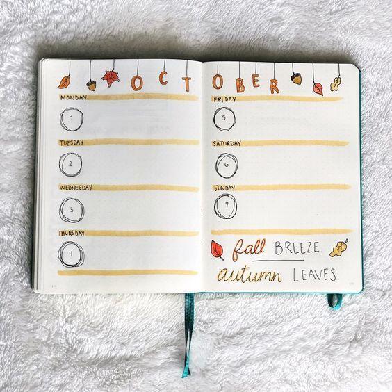 35 schöne und bezaubernde November Bujo-Ideen für Ihr Bullet Journal –