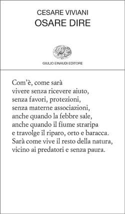Cesare Viviani, Osare dire, Collezione di poesia - DISPONIBILE ANCHE IN E-BOOK