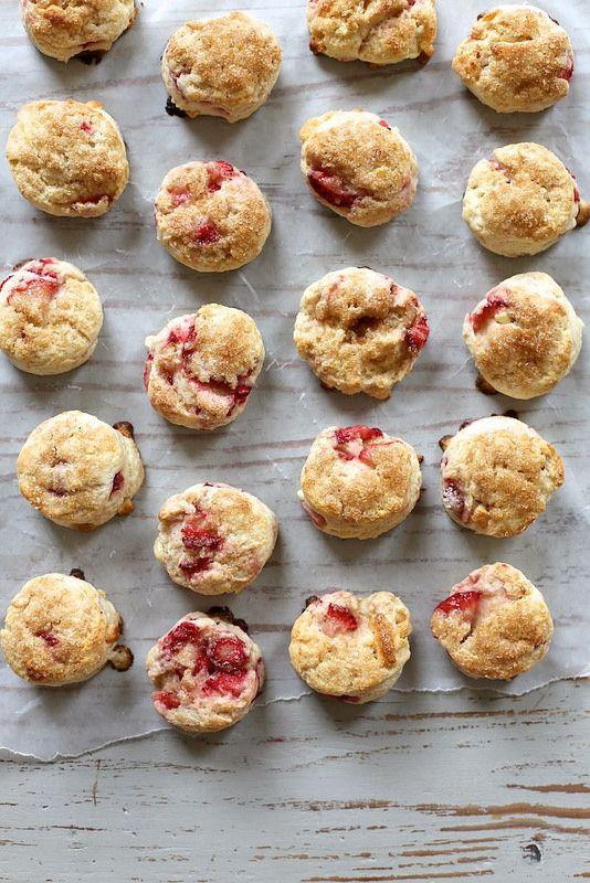 tiny strawberry cream scones / joy the baker