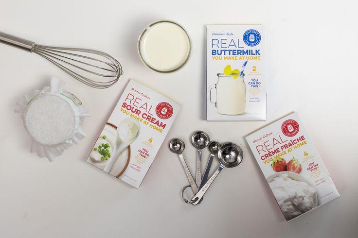 Sour Cream, Creme Fraiche, and Buttermilk Starters