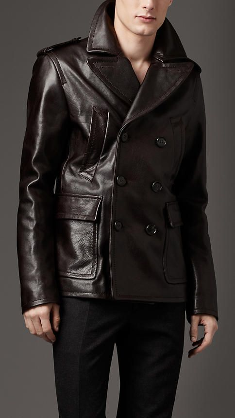 $3,195 Leather Peacoat. I'm not saying buy it, because that's a crazy price, but it's nice. lol.