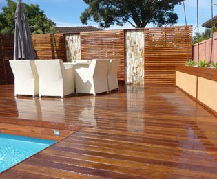 Outdoor Timber Decking Design Sutherland Shire Sydney